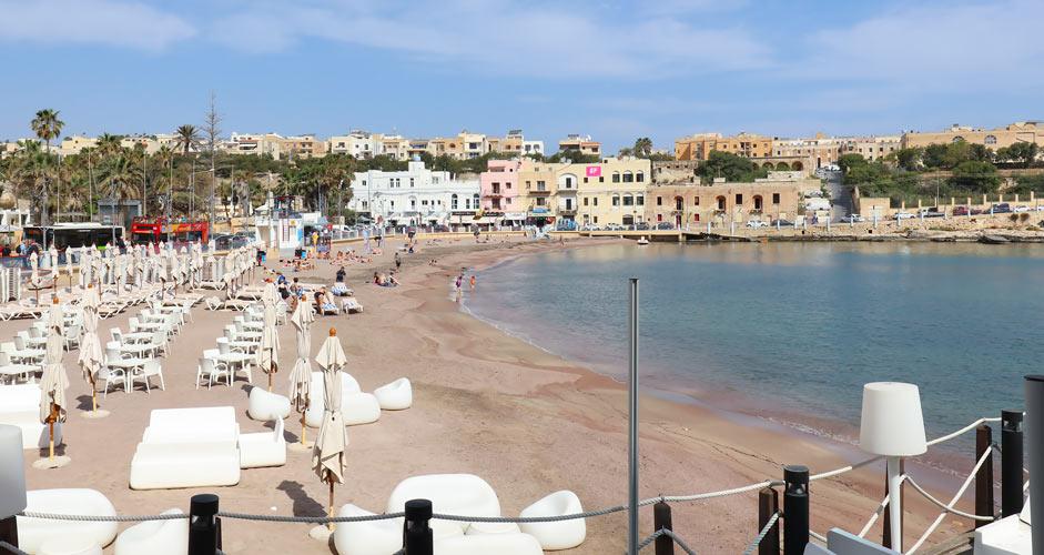 St George's Bayn ranta Malta