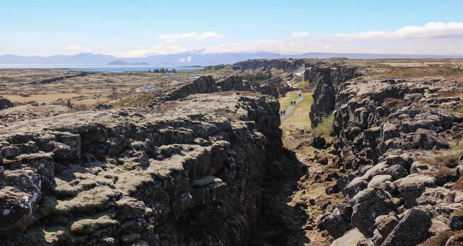 Almannagján rotko Thingvellirin kansallispuistossa